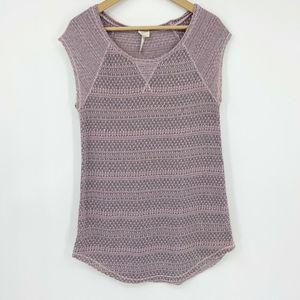 Intimately FP Raglan Cap Sleeve Textured Knit Top
